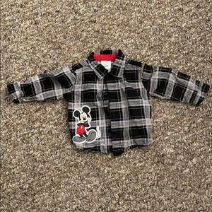 Micky Mouse button down